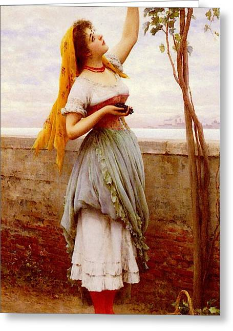 Blass Eugene De The Grape Picker Greeting Card
