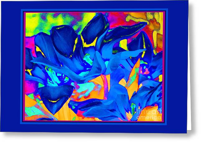 Blaue Tulpen Greeting Card