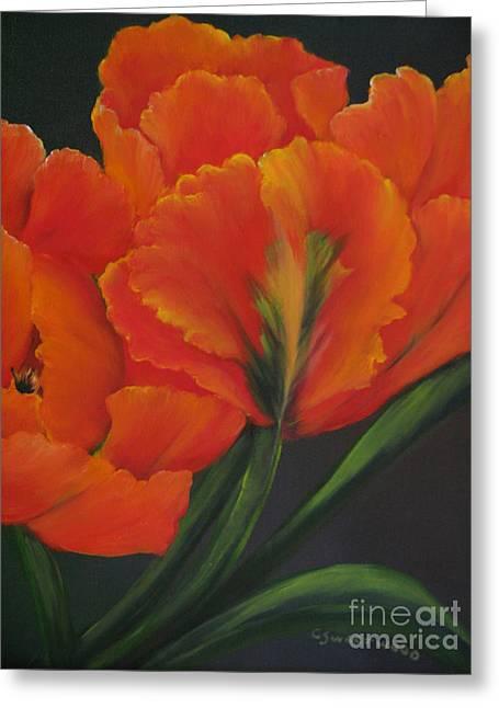 Blaze Of Glory Greeting Card by Carol Sweetwood