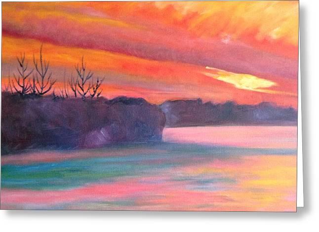 Blaze Of Glory Greeting Card by Marla McPherson