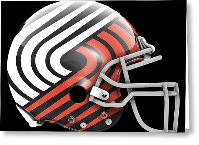 Blazers What If Its Football Greeting Card by Joe Hamilton