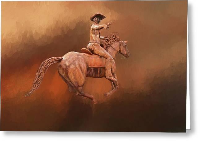Blazin' Saddle Greeting Card by Donna Kennedy