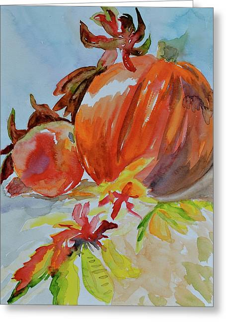 Greeting Card featuring the painting Blazing Autumn by Beverley Harper Tinsley