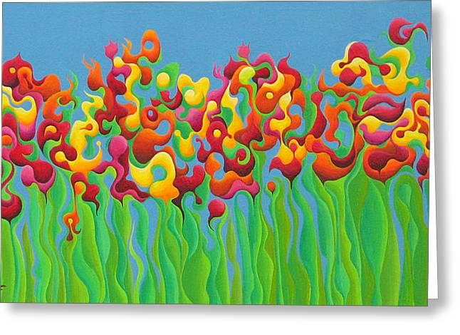 Blazing Blossom Bash Greeting Card