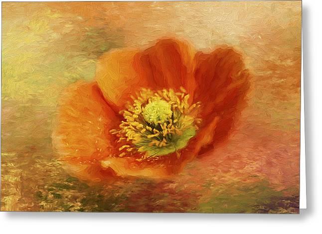 Blazing Greeting Card by Darren Fisher