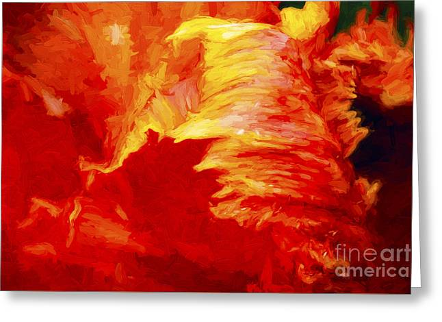 Blazing Tulip Greeting Card by Paul W Faust -  Impressions of Light