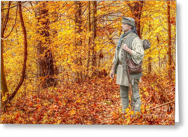 Frontiersman Greeting Cards - Blazing Unknown Trails Greeting Card by Randy Steele