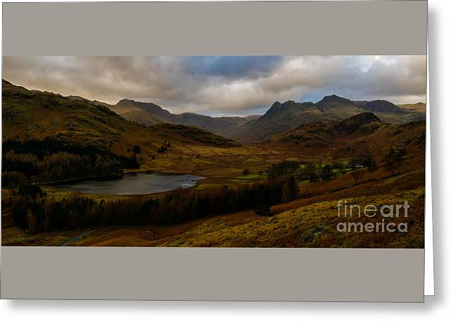 Blea Tarn Sunset Greeting Card