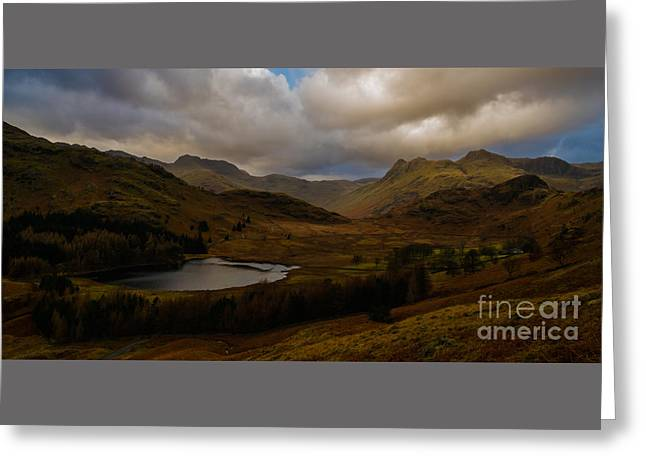 Blea Tarn Winter Sunset Greeting Card