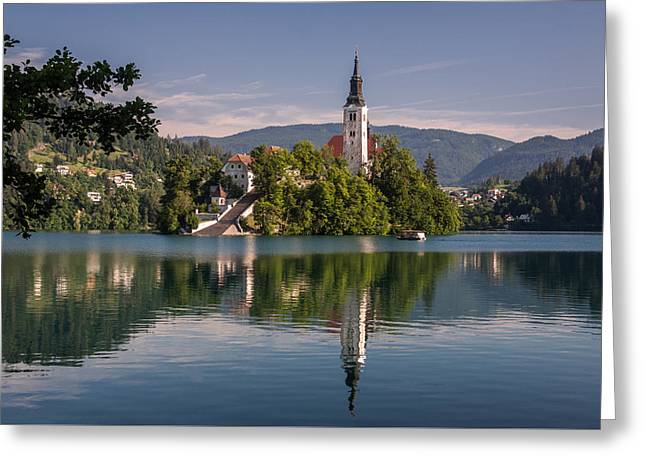 Bled Greeting Card by Davorin Mance