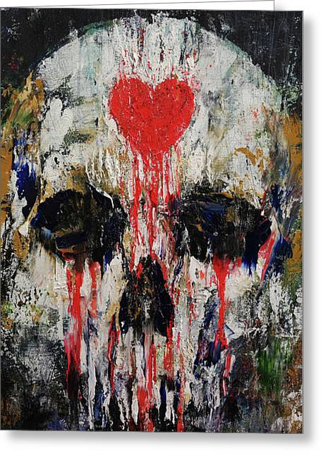 Bleeding Heart Greeting Card by Michael Creese
