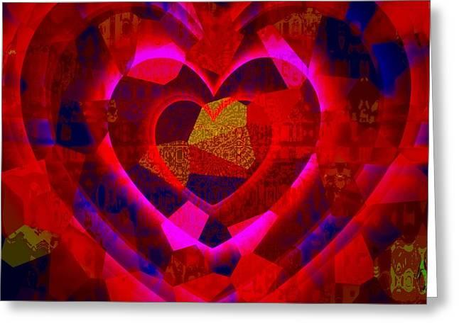 Bleeding Hearts For The Elderly In Haiti Greeting Card by Fania Simon