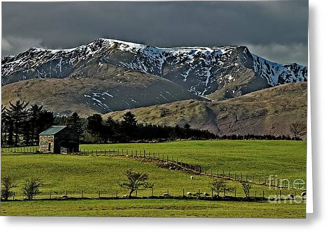 Blencathra Mountain, Lake District Greeting Card