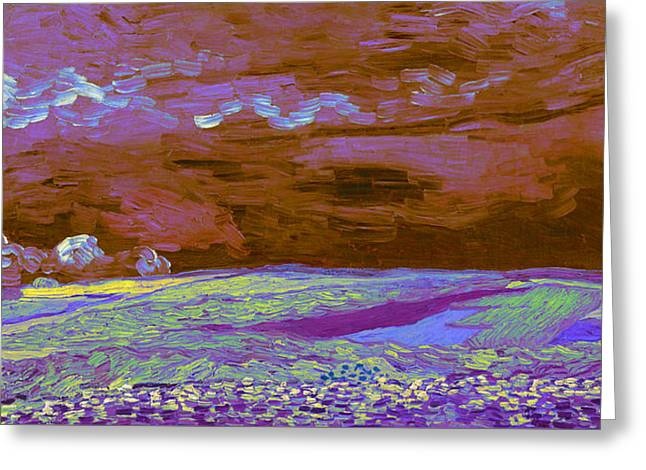 Blend 18 Van Gogh Greeting Card by David Bridburg