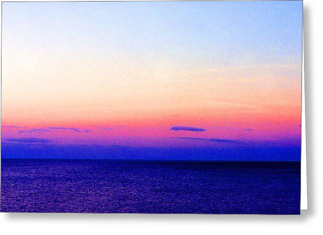 Greeting Card featuring the digital art Blend Above The Lake 233 by Lyle Crump