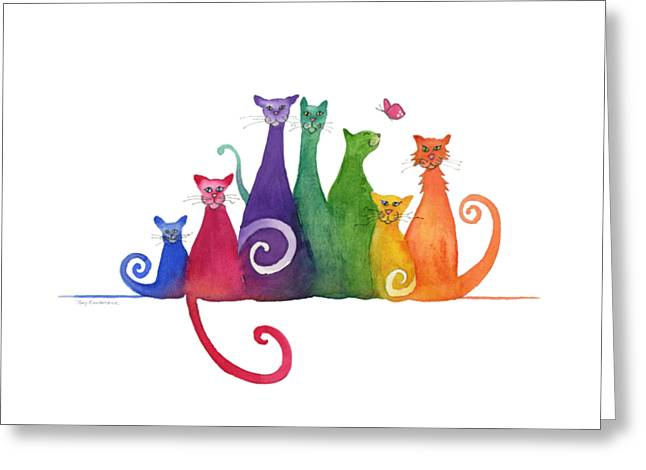 Blended Family Of Seven Greeting Card
