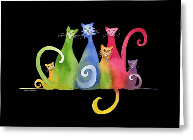 Blended Family Of Six Greeting Card by Amy Kirkpatrick
