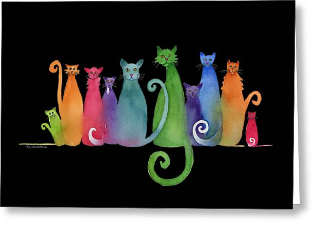 Blended Family Of Ten Greeting Card by Amy Kirkpatrick