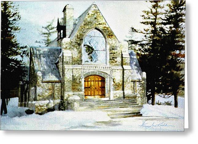 Blenheim Chapel Greeting Card by Hanne Lore Koehler