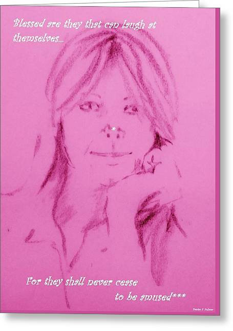 Greeting Card featuring the drawing Blessed Are They by Denise Fulmer