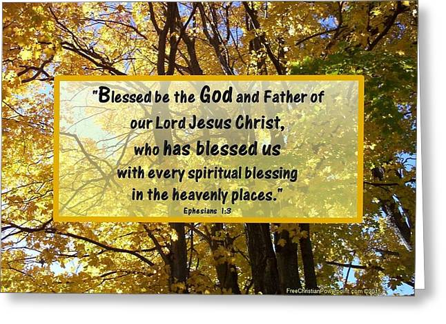 Greeting Card featuring the photograph Blessed Be God by Sonya Nancy Capling-Bacle