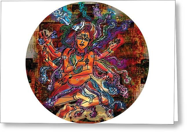 Blessing Shiva Greeting Card