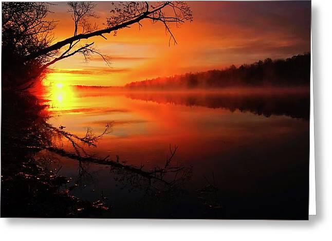 Blind River Sunrise Greeting Card