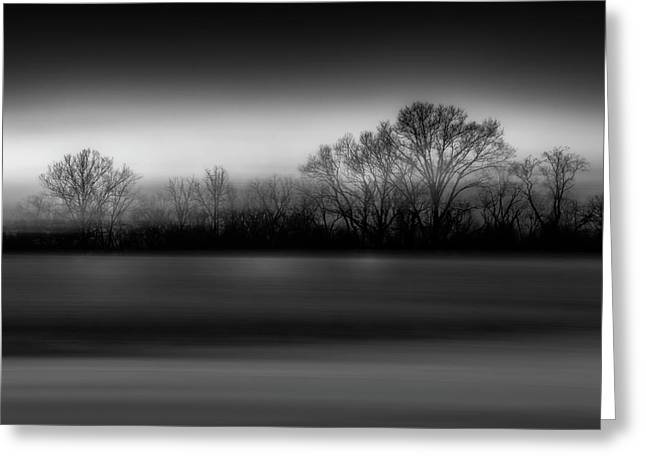 Blink Black And White Greeting Card