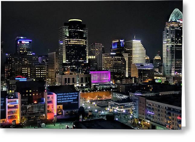 Blink Cincinnati - Skyline  Greeting Card