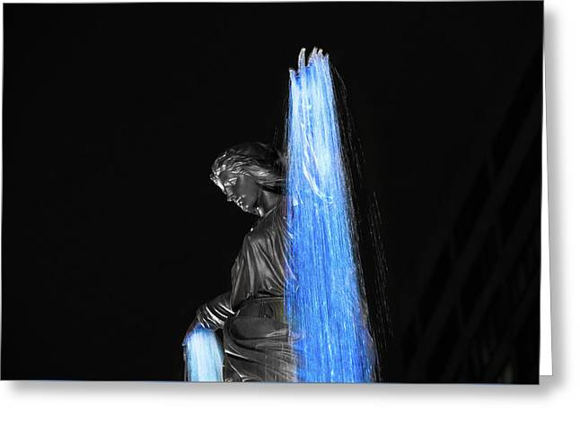 Blink Cincinnati - Tyler Davidson Fountain On Fountain Square Greeting Card