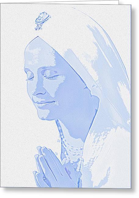 Bliss Is God Greeting Card by Manjot Singh Sachdeva