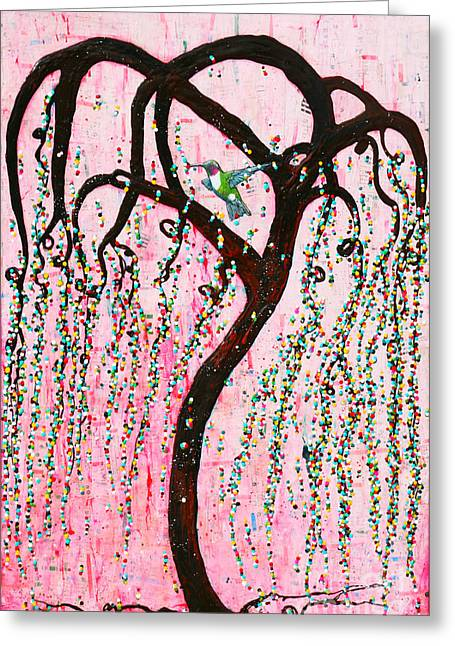 Greeting Card featuring the mixed media Blissful Melody by Natalie Briney