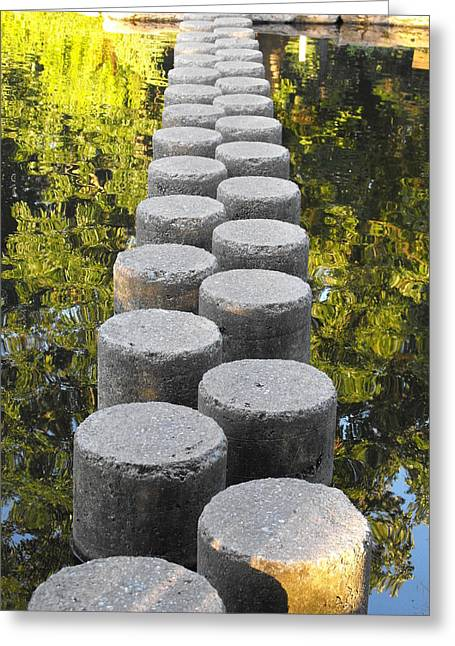 Blissful Path Of Tranquility Greeting Card