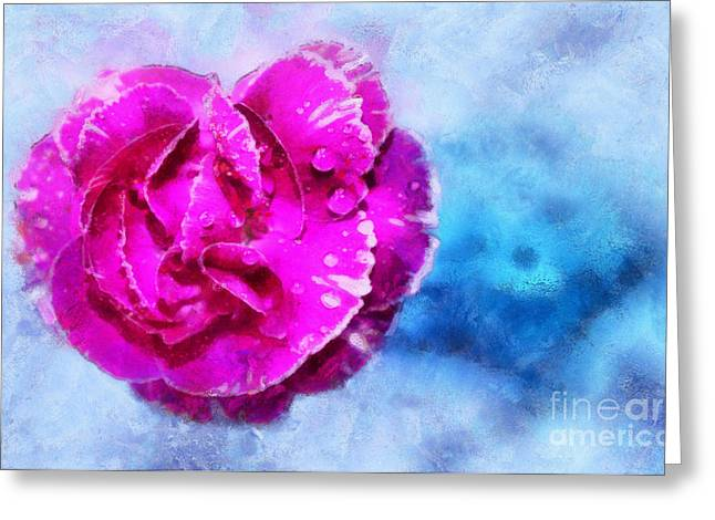 Blissful Pink Greeting Card