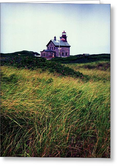 Block Island Light-house Greeting Card by John Scates