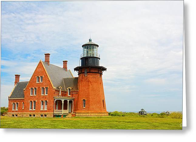 Block Island Southeast Lighthouse Artwork Greeting Card by Lourry Legarde