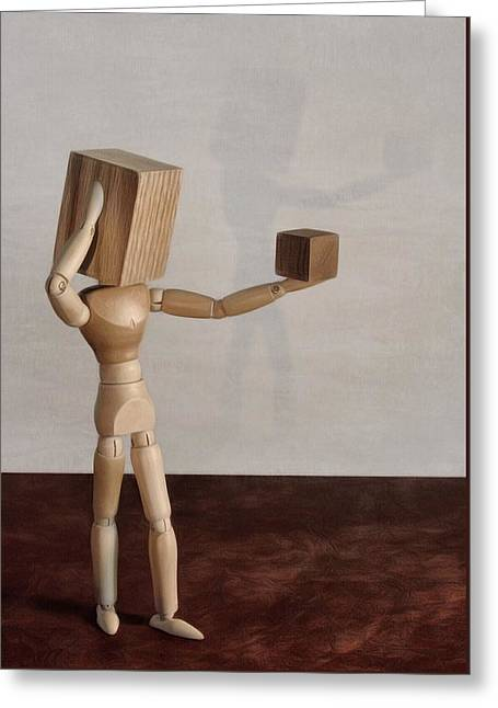 Greeting Card featuring the photograph Blockhead by Mark Fuller