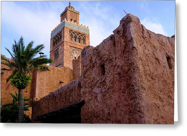 Blocks And High Tower Architecture From Orlando Florida Greeting Card