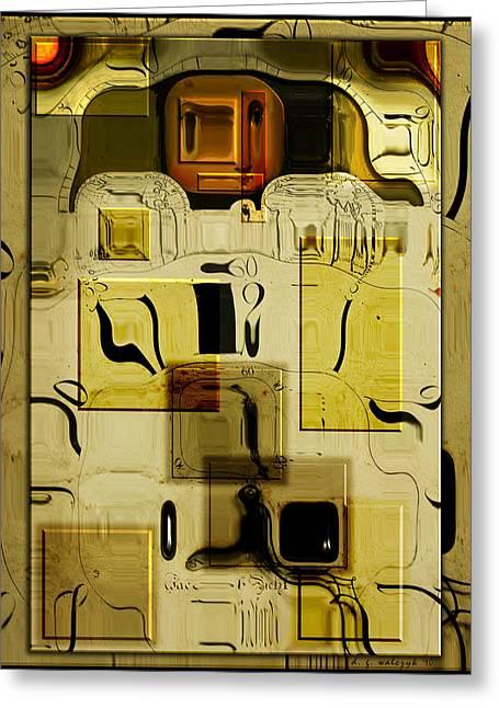 Blocks Of Time Greeting Card by Daniel G Walczyk