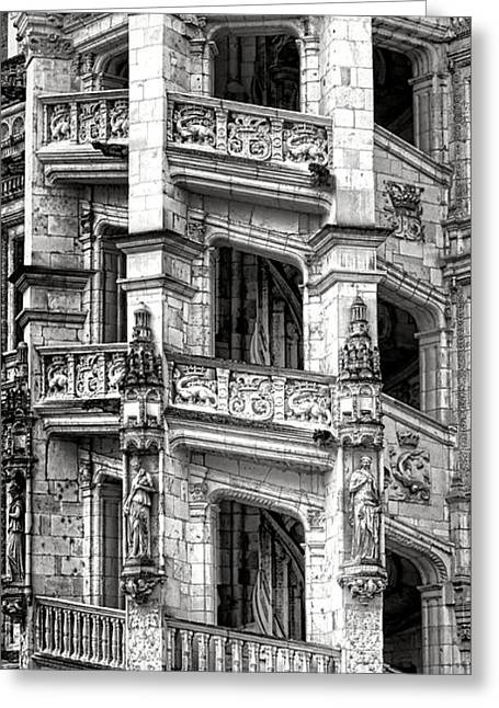 Blois Castle Staircase Greeting Card by Olivier Le Queinec