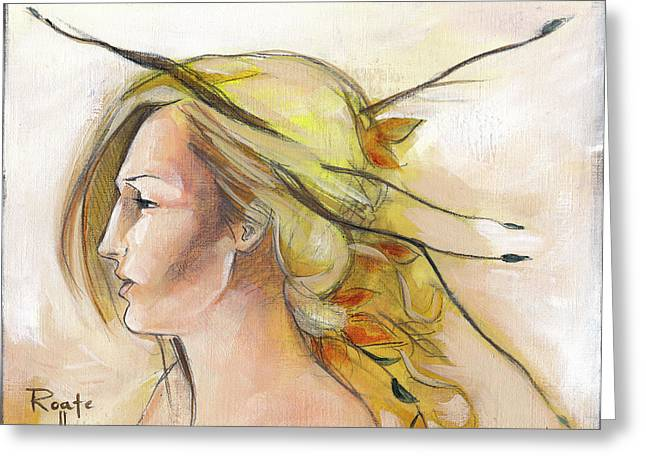 Blonde Autumn Left Greeting Card by Jacque Hudson