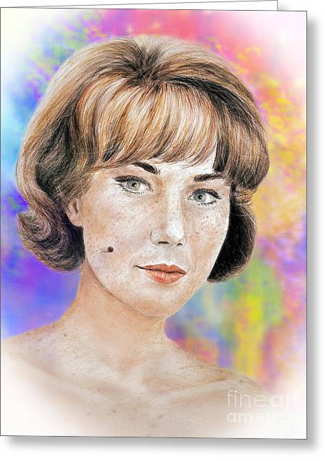 Blonde Beauty With Bangs II Greeting Card by Jim Fitzpatrick