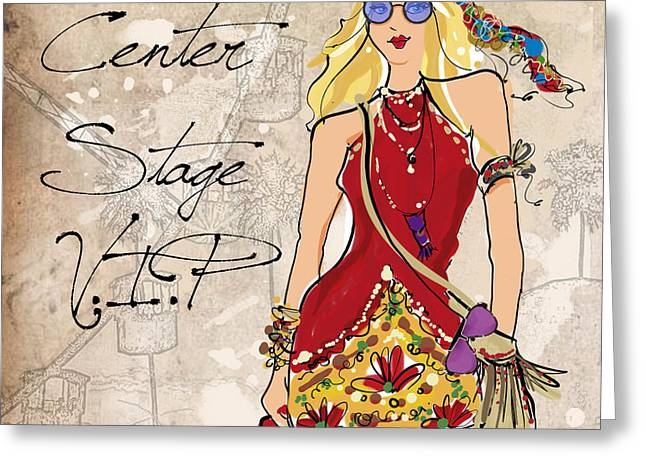 Blonde Glasses Greeting Card by Jodi Pedri