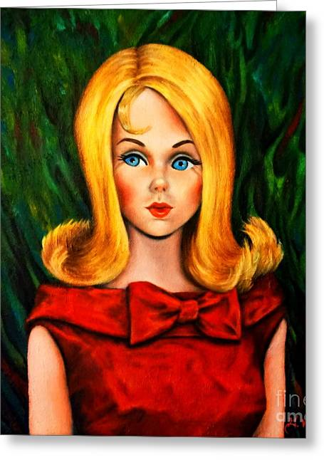 Blonde Marlo Flip Tnt Barbie Greeting Card