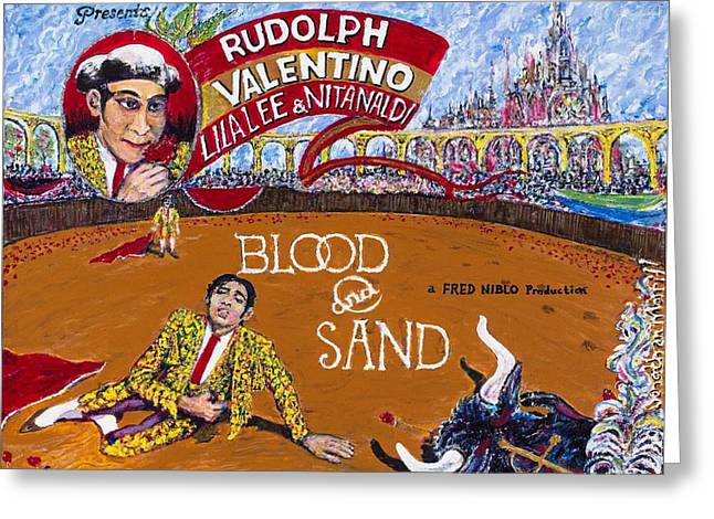 Blood And Sand - 1922 Lobby Card That Never Was Greeting Card