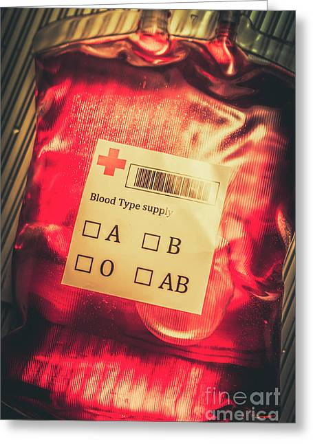 Blood Donation Bag Greeting Card by Jorgo Photography - Wall Art Gallery