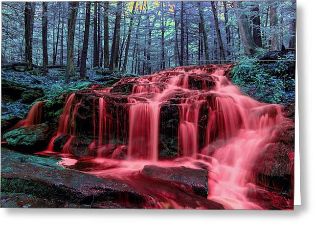 Greeting Card featuring the photograph Blood Falls 1 by Brian Hale