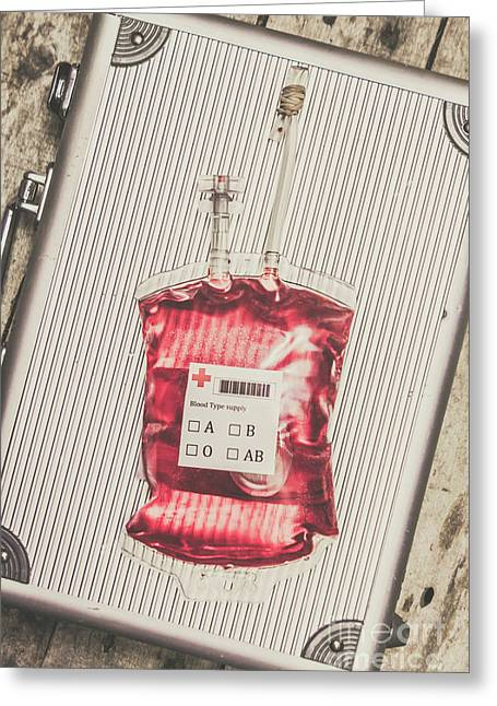 Blood Infusion Medical Kit Greeting Card by Jorgo Photography - Wall Art Gallery