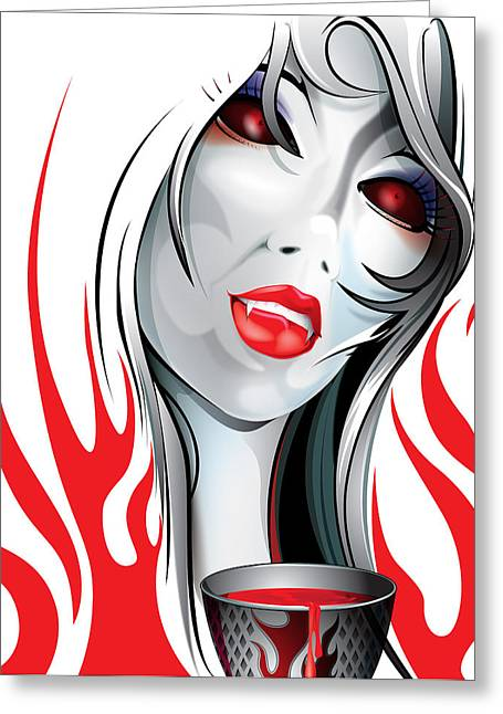 Blood Lust  Greeting Card