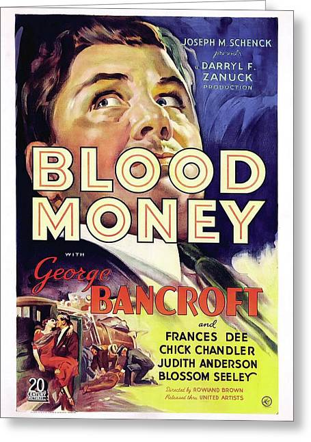 Blood Money 1933 Greeting Card